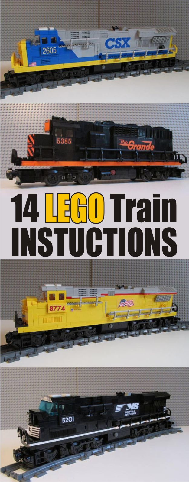 14 great LEGO Train Instructions. LEGO Instructions, #ad