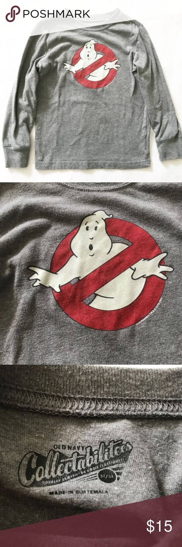 OLD NAVY [boys] Ghostbusters Gray long sleeve Top BOYS 5T OLD NAVY [boys] Ghostbusters Gray long sleeve Top t-shirt Old Navy Shirts & Tops Tees - Long Sleeve