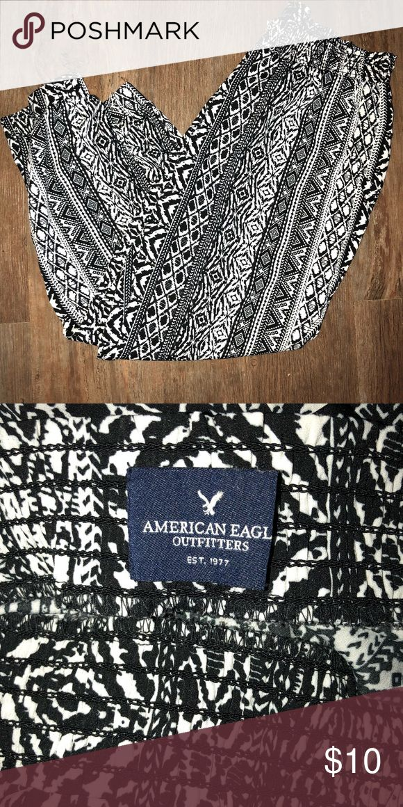 Aztec pants American eagle aztec pants. Elastic waist, pockets, and cinched at the ankles. These pants are seriously so comfortable! American Eagle Outfitters Pants