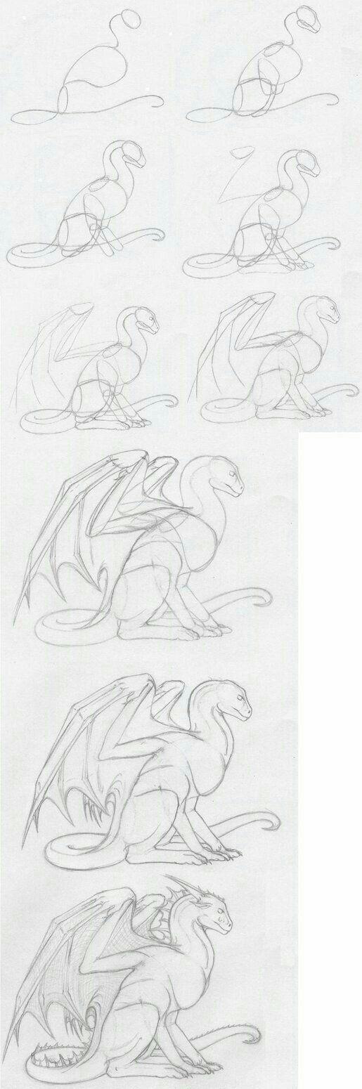 How to Draw - Un dragón.