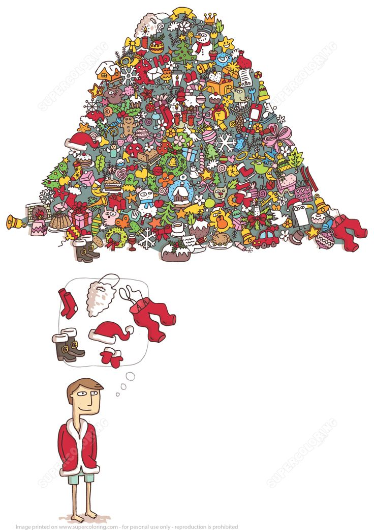 Find Santa Claus Suit in a Pile of Objects Brain Teaser Puzzle | Super Coloring