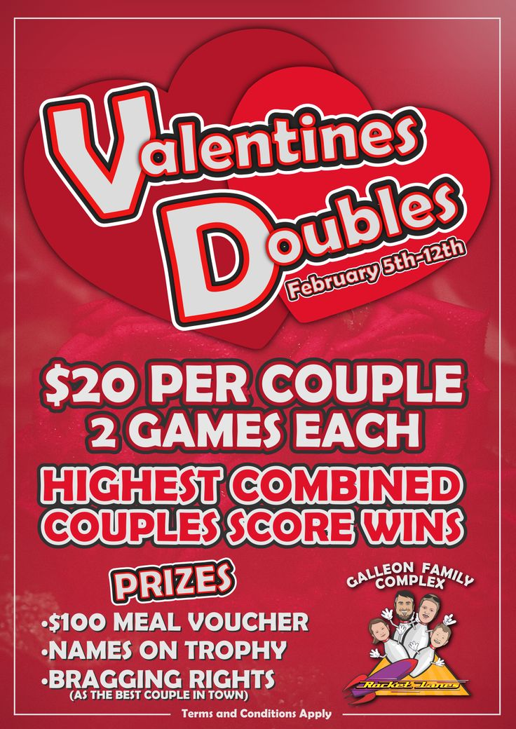 Book your spot now for this years Valentines Doubles bowling competition.