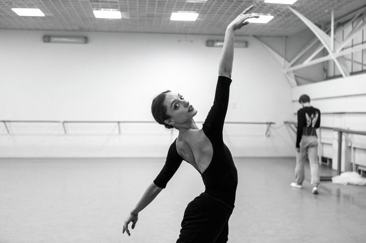 "Dorothée Gilbert and Vladimir Shklyarov rehearsing ""The Kingdom of the Shades"" act from La Bayadère. Photos (c) James Bort."