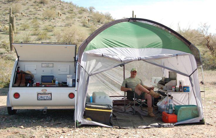 Tear Drop Trailer / Caravan - fantastic awning ! Little Guy Trailers