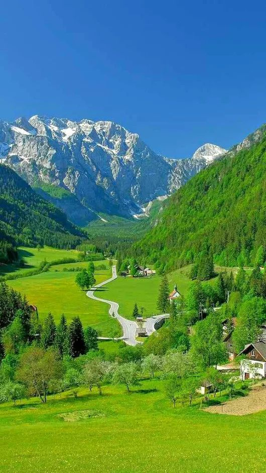 Spring at Julian Alpes, Slovenia