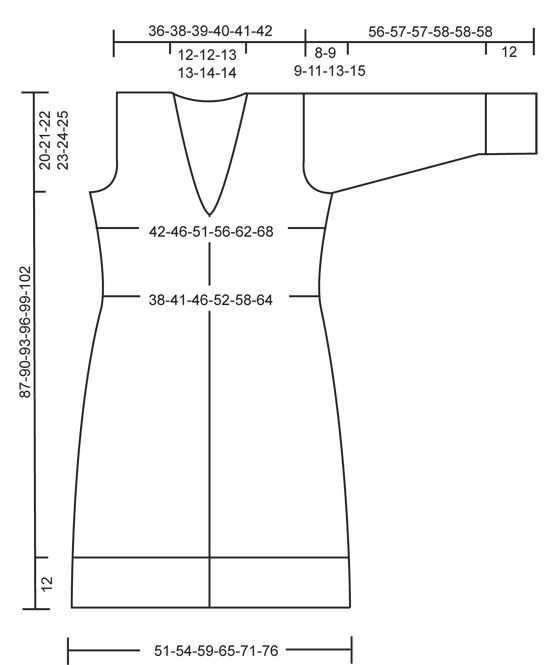 """DROPS 124-16 - Knitted DROPS fitted, long jacket in 2 strands """"Delight"""". Size S to XXXL. - Free pattern by DROPS Design"""