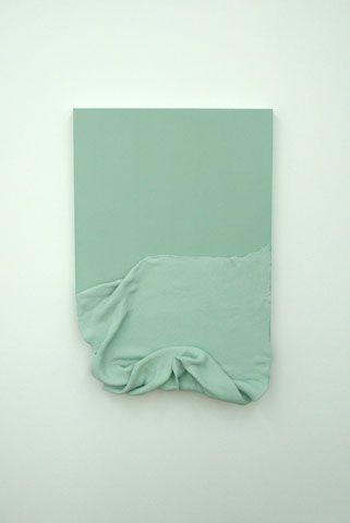 xviars:  Manuela Leinhoß Wooden glass  2010, Wood, paper-mâché, emulsion paint, 82 x 55 x 11cm