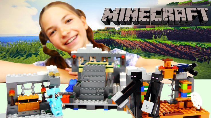 Лего МАЙНКРАФТ - портал в Эндер мир. Собираем и играем с лучшей подружко...
