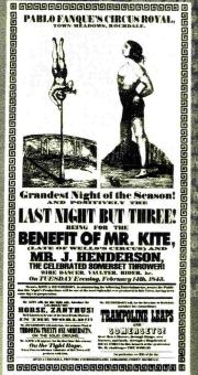 The real Victorian poster found in antique store is the inspiration behind John Lennon's Sgt. Peppers song, Being For The Benefit Of Mr. Kite. I always thought that the song was so cool because of the unique inspiration!!