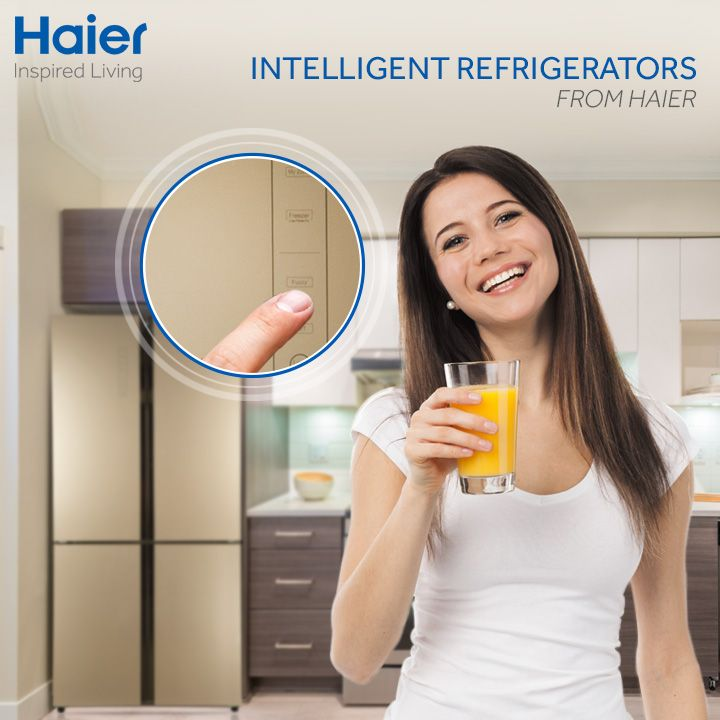 Haier's #refrigerators are equipped with fuzzy logic. This smart #technology senses the required temperature inside your refrigerator & automatically sets it as per your requirement.