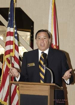 Randy Avon, vice president of Sister Cities International, at the Florida Sister Cities State Conference at the Helmsley Sandcastle on Lido Key in Sarasota in 2005