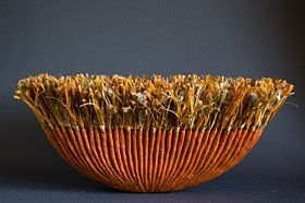 Sharon Meyer Postance's non-traditional baskets via Elemeno P