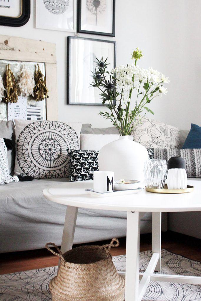 wohnzimmer mit deko im vintage boho look diy bedroom. Black Bedroom Furniture Sets. Home Design Ideas