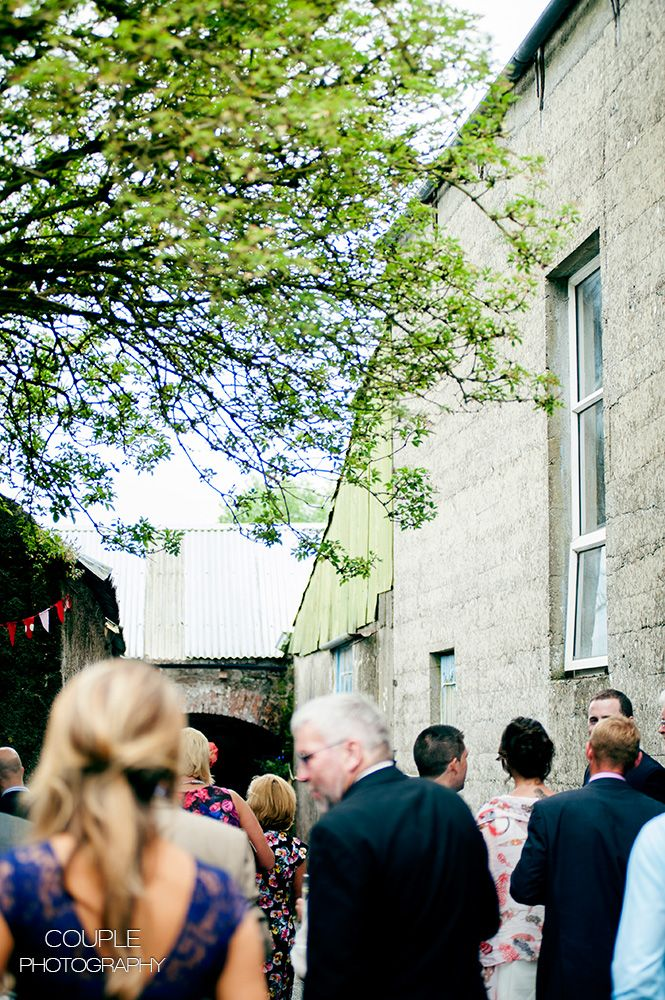 Guests arrive at the site. Irish Marquee weddings photographed by Couple Photography.