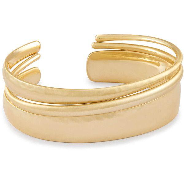 Tiana Cuff Bracelet Set in Gold | Kendra Scott Bracelets (125 BGN) ❤ liked on Polyvore featuring jewelry, bracelets, cuff bangle bracelet, gold cuff bangle, yellow gold jewelry, cuff bracelet and kendra scott bangles