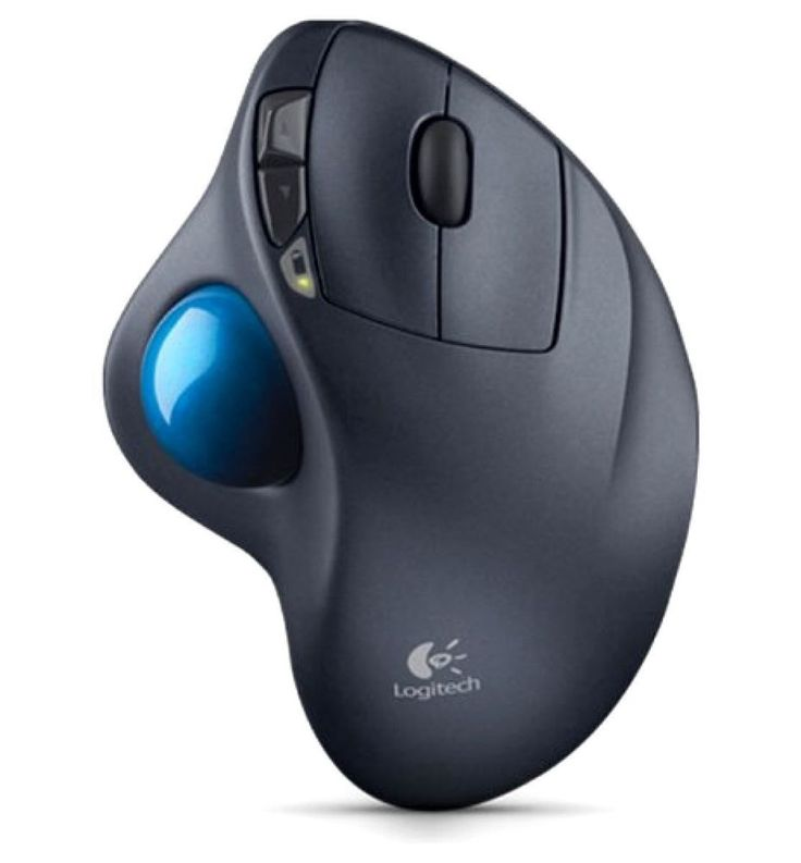 Logitech Wireless Mouse Cordless Track Ball PC Mac Trackball Ergonomic Computer  | eBay