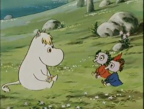 Snork Maiden asks Thingumy and Bob about the suitcase