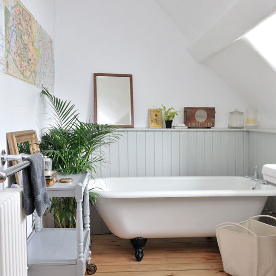 Tongue and groove panelled bathroom | bathroom decorating ideas | Style at Home | Housetohome.co.uk
