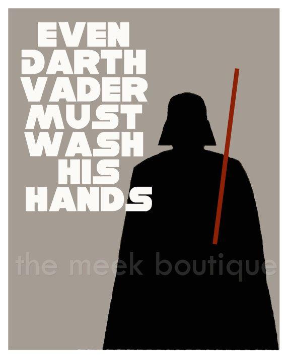 Darth Vader Bathroom Art