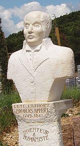 Sculpture of Nicolas Appert by Roger Marion in Malataverne, 2010.    https://en.wikipedia.org/wiki/Nicolas_Appert
