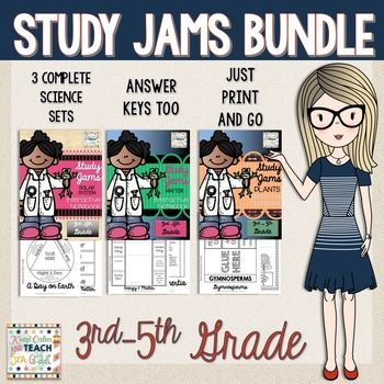 Study Jams Science Interactive Notebook Bundle - Plants, Matter & Solar SystemThis interactive notebook bundle is perfect for technology-based independent or small group work.  There are about 23 pages in each set and it will keep your students engaged while learning all about popular science topics.The topics included are:PlantsSolar SystemMatterYou will need access to the internet and sound to complete these activities!Each interactive notebook includes:- Interactive notebook activity ...