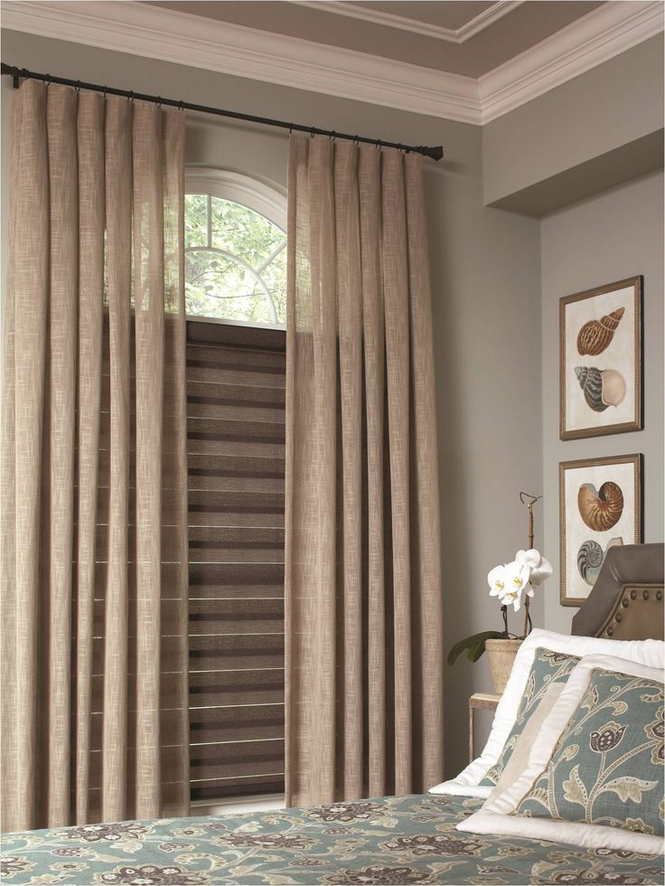 Simple Bedroom Window Shades Interior Fashions Allure Transitional Brown Shadings Combined With Beige Curtain Panels On A Custom In Inspiration Decorating