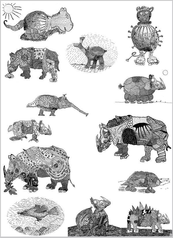 Rhino – Sampler – aus der Grundschule –  http://khnemo.wordpress.com/2008/11/17/albrecht-durer-pietro-longhi-jean-baptiste-oudry-und-%C2%BBclara%C2%AB-das-rhinozeros/