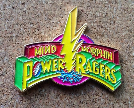 Mind Morphin Power Ragers V2 Gold Hat Pin by PhunkyLovePinDesigns