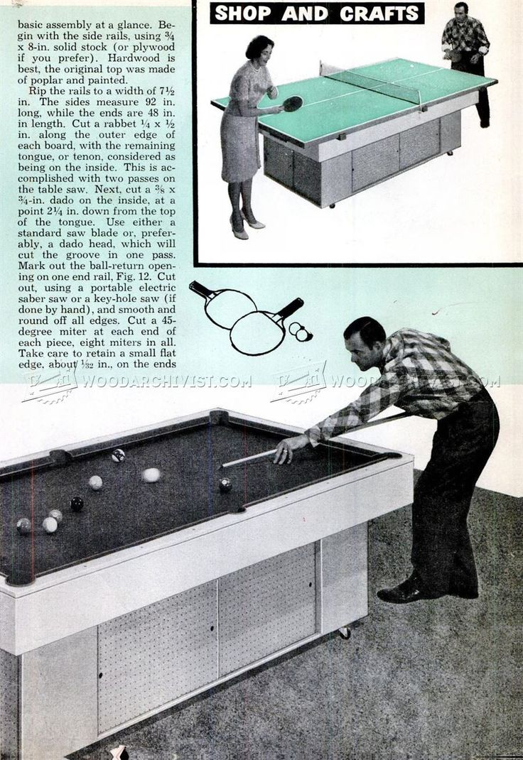 Build your own pool table plans -  3070 Diy Pool Table Woodworking Plans