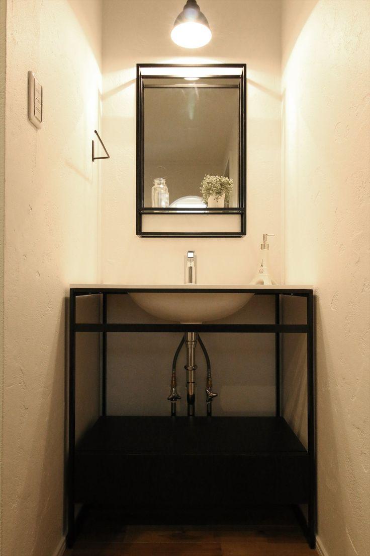 洗面台/ヴィンテージ/注文住宅/インテリア/ジャストの家/washstand/lavatory/powderroom/bathroom/vanity/vintage/design/interior/house/homedecor