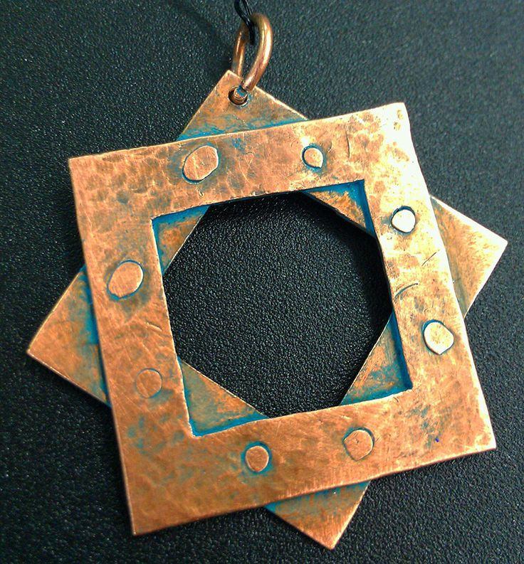 G.D. Cani - Copper pendant - 2013 - geometric design, riveting cold connections, acrylic patina lacquer sealant.