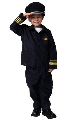 Boys Airline Jet Pilot Career Role Play Dressup Halloween Costume Size 6/8