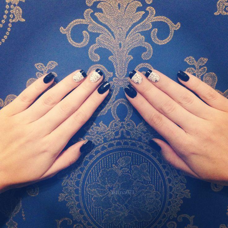 #nails #nail #fashion #style  #cute #beauty #beautiful  #pretty #girl #girls #stylish #sparkles #styles #gliter #nailart #art #opi  #essie  #love #shiny #polish #nailpolish #blackandwhite