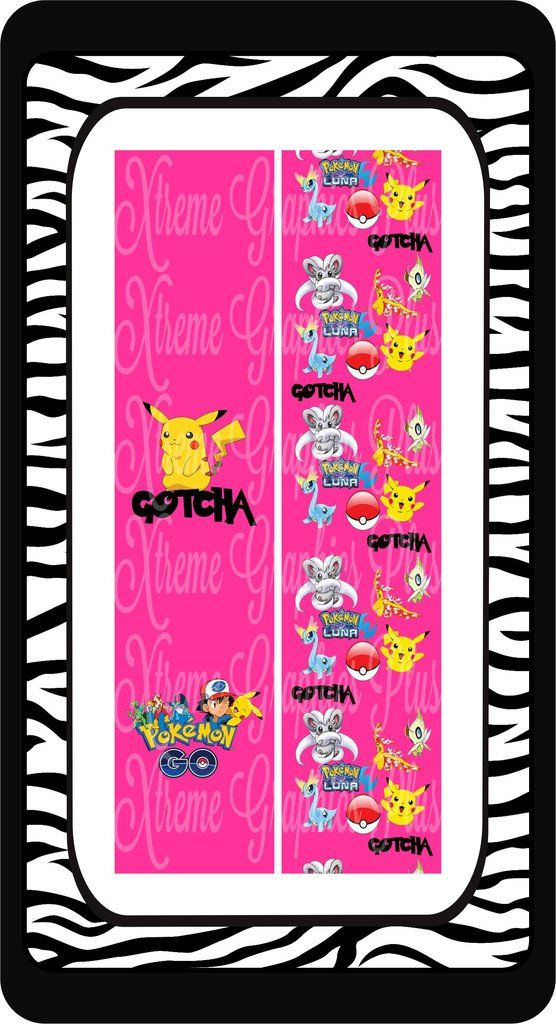 Pokemon Pink Ready to Press Sublimation Bow Strips
