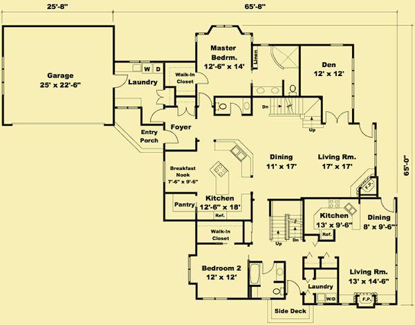 Architectural House Plans Floor Plan Details Pier 39 S