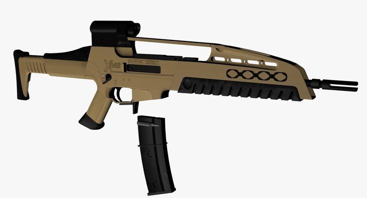 xm8 assault rifle 3d max