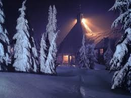 Night at Timberline Lodge, Mt. Hood, Oregon