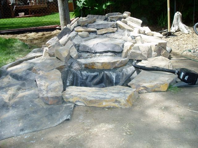 1000 images about pond ideas on pinterest backyard for Pond waterfall spillway ideas