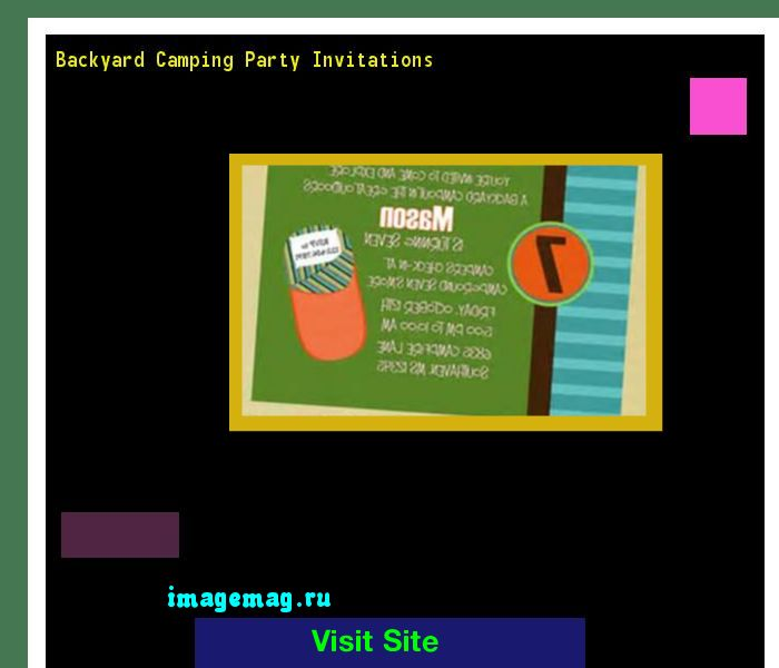 Backyard Camping Party Invitations 120044 - The Best Image Search