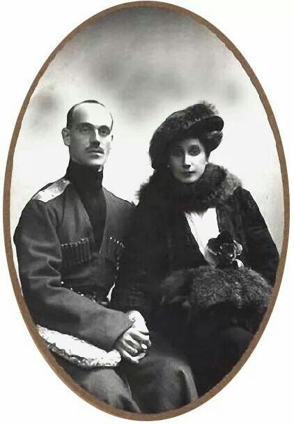 "Grand Duke Mikhail Alexandrovich Romanov of Russia with wife,Natasha. ""AL"""