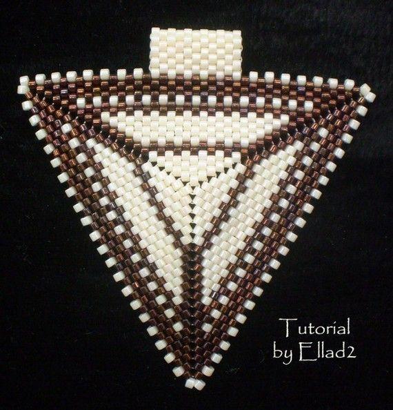 TUTORIAL Peyote Triangle Pendant