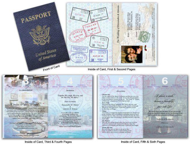 Wedding Invitation Template Passport Wedding Invitations By Way Of Giving Some Graceful Invi Passport Wedding Invitations Passport Invitations Passport Wedding