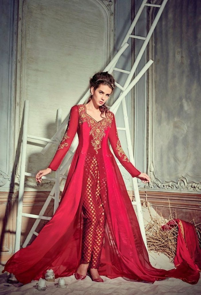 51 best straight cut salwar kameez images on pinterest for Wedding dresses straight cut