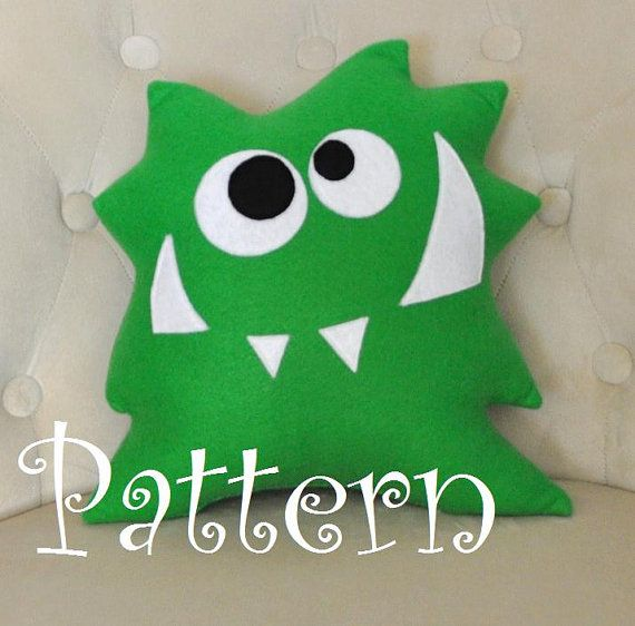 Monster Plush Pattern PDF Tutorial and by bedbuggspatterns on Etsy