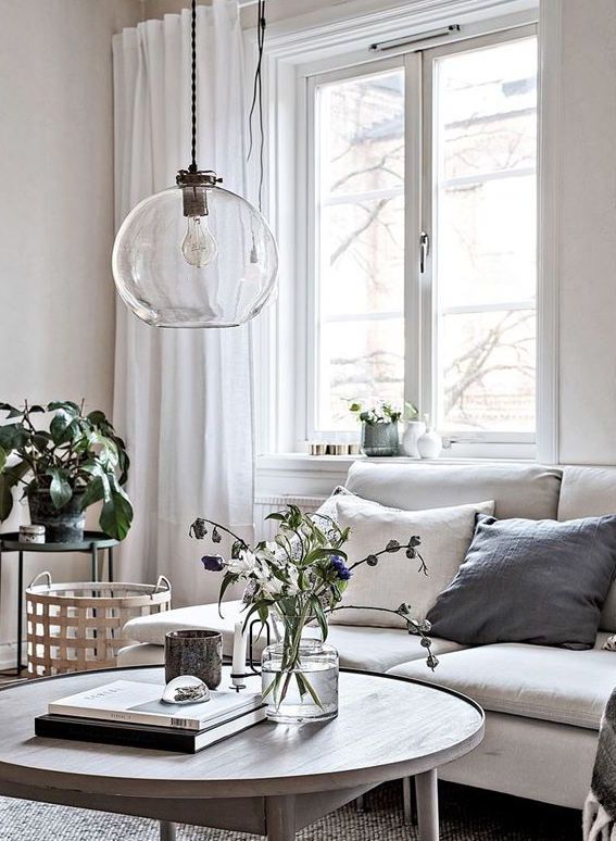 Lounge Room Lighting Cozy Home With Lots Of Details White Living Roomschandelier