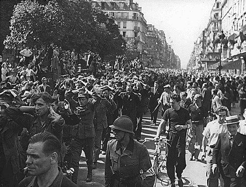 German POWs in Paris in August 1944.Wwii 1939 1945