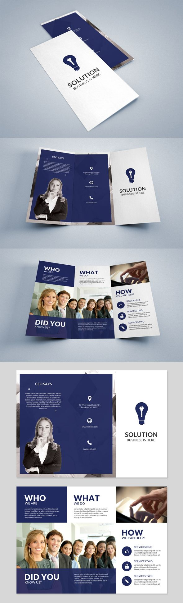 Tri fold Business Solutions on Behance