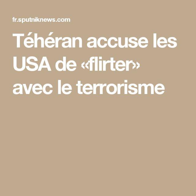 Téhéran accuse les USA de «flirter» avec le terrorisme