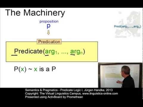 ▶ Semantics and Pragmatics - Predicate Logic I - YouTube