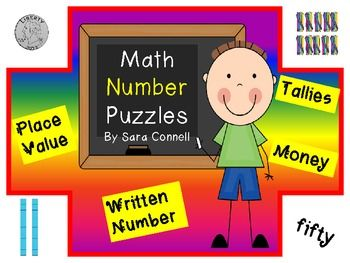 Place Value, Coins and Tally Mark Math Puzzles ~Numbers 1-120 (scheduled via http://www.tailwindapp.com?utm_source=pinterest&utm_medium=twpin&utm_content=post30867824&utm_campaign=scheduler_attribution)
